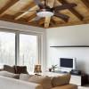 Ventilateurs plafond design LEYTE Marron, H37cm FARO