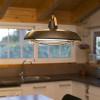 Luminaires salon design PLEC, Marron FARO