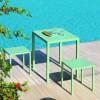 Table design & lumineuse - Table haute QUATRIS POP, H75cm VERMOBIL
