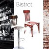 Chaise design & lumineuse BISTROT, H91cm ACRILA