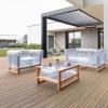 Canapé Design & Lumineux - Sofa YOMI WOOD, H69.5cm MOJOW