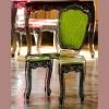 Chaise design & lumineuse BAROQUE, H92cm ACRILA
