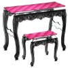 Table design & lumineuse - Table haute CAPITON, H78.5cm ACRILA