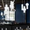 Luminaires chambre design PEARLS B Blanc, H34cm FORMAGENDA