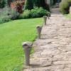 Bornes jardin extérieures CORNET Gris Pierre BOVER