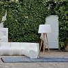 Suspensions plafonniers de luxe AGATA WOOD Blanc, H180cm MYYOUR