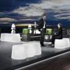 Banc design & lumineux PEANUTS, L99cm LYXO DESIGN