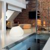 Eclairage exterieur piscine POTTER Blanc, H55cm PANZERI