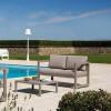 Canapé Design & Lumineux - Sofa QUATRIS Gris, H69cm VERMOBIL