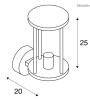 Eclairage exterieur piscine PHOTONIA Anthracite, H25cm SLV