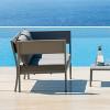 Canapé Design & Lumineux - Sofa PORTO CERVO Gris, H72cm VERMOBIL