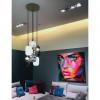 Luminaires salon design COLOSSEO, H18cm CONCEPT VERRE