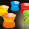 Table basse design & lumineuse MINI LOUNGE, H33cm MOREE