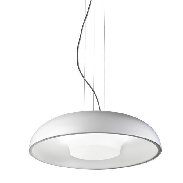 Luminaires salon design TANDEM Blanc H10cm, LEDS-C4