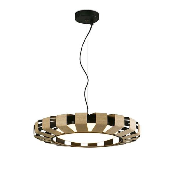 Luminaires salon design PAULINE Bois, H12cm FARO