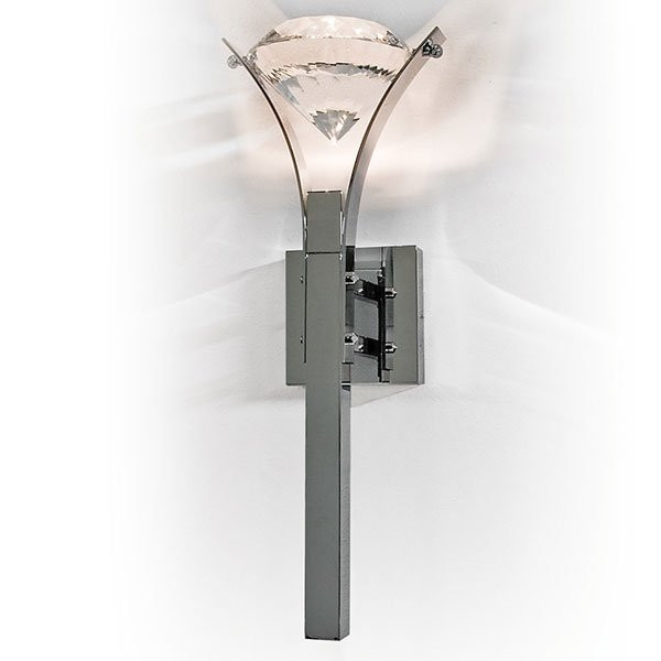 Luminaires chambre design ELEMENT OF LOVE Chrome, H38cm ILFARI