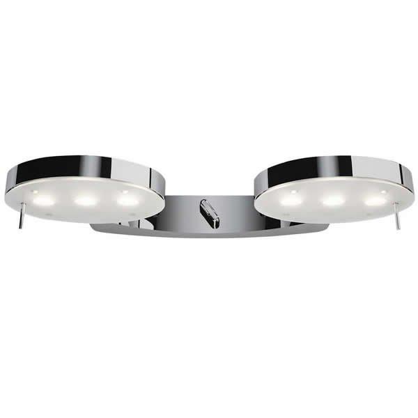 Luminaires entrée DOUBLE 3 LED, H3.8cm MILAN ILUMINACION