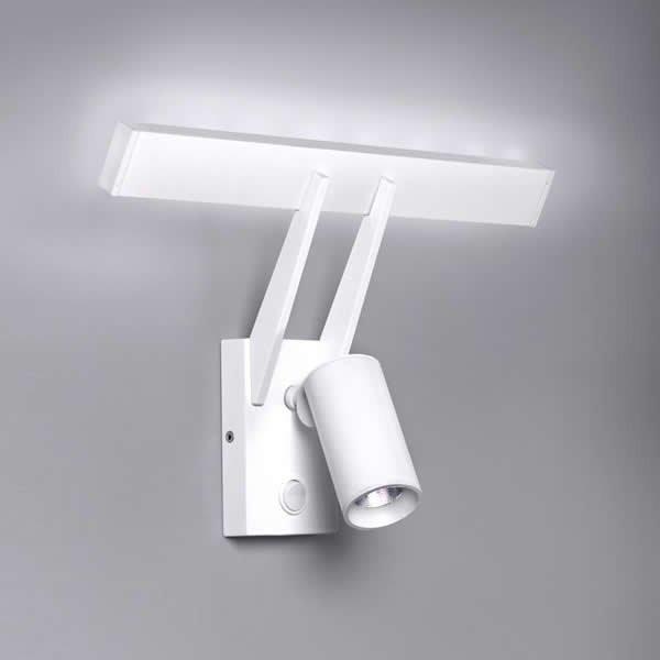 Luminaires chambre design TUB LED Blanc H19.6cm MILAN ILUMINACION