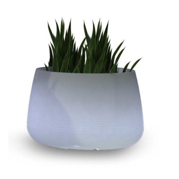 Pots lumineux design CAMELIA, H46.5cm NEW GARDEN