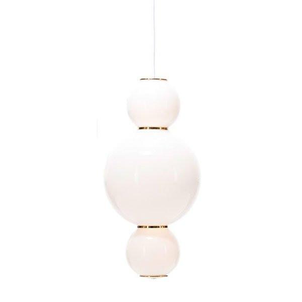 Luminaires chambre design PEARLS A Blanc, H34cm FORMAGENDA