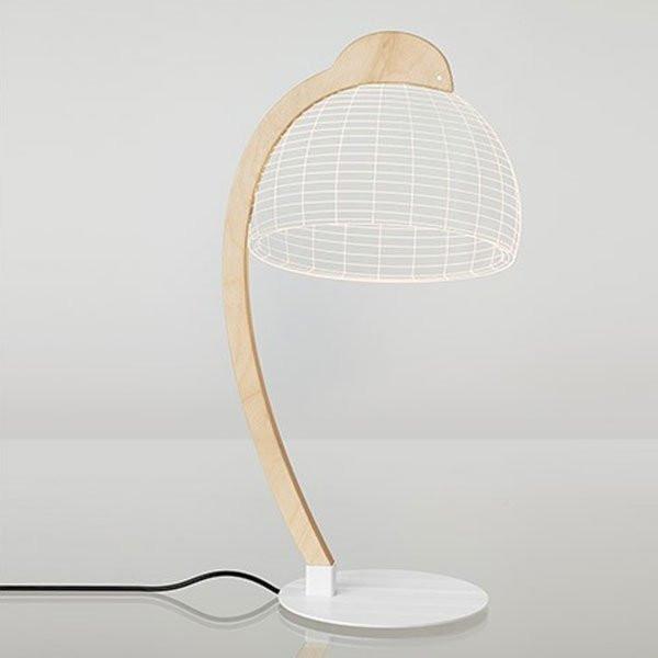 Luminaires chambre design DOME Bois, H42cm STUDIO CHEHA