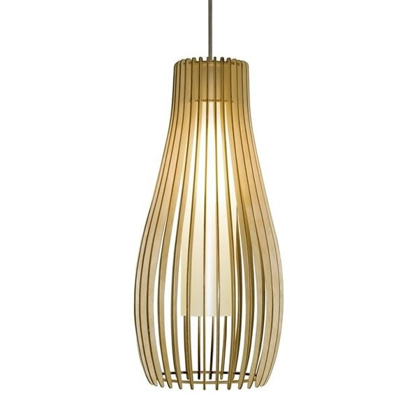 Luminaires chambre design FIGUE 500 Bois, H47cm BROSSIER SADERNE