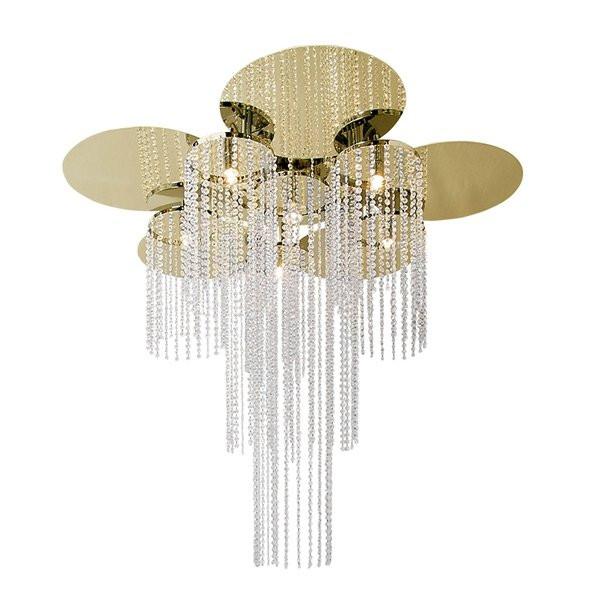 Luminaires salon design OPUS C5 Laiton, H90cm ILFARI