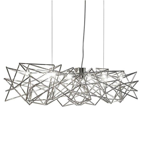 Luminaires salon design ETOILE Nickel, H20cm TERZANI
